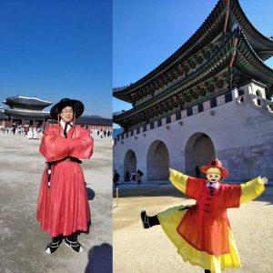 光化門とタダで着れる民族衣装