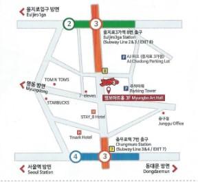 JUMP劇場への地図