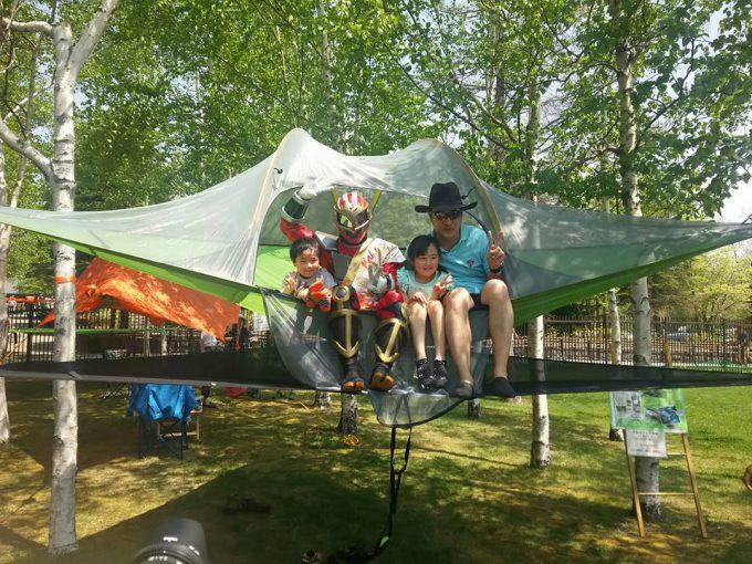 空中テント