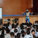 小学校でヒーローの交通安全教室【出陣報告】