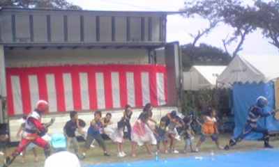 南三陸の子ども達と踊る