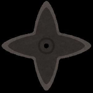 忍者の武器:平型手裏剣